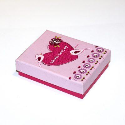 Коробочка подарочная №4 7×9×2,8 см