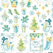 Бумага Mona design Новый год (набор 9 листов)
