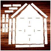 Шадоубокс ДОМИК (объемная рамка-коробка) 33*21 см