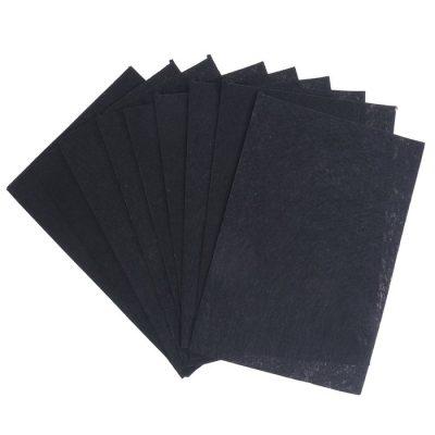 Фетр жесткий 1 мм, чёрный