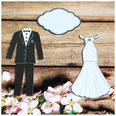 Вырубка «Свадебная» (3 элемента)