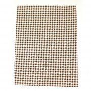 Ткань на клеевой основе 21*14,5 см клеточка коричневая