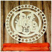 Органайзер «СНЕГОВИКИ» 15 см (34 отверстий)
