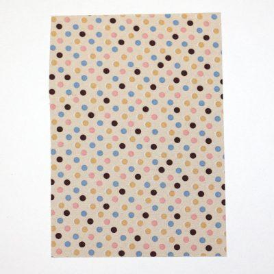 Ткань на клеевой основе 21*14,5 см горошек микс