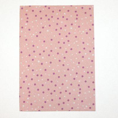 Ткань на клеевой основе 21*14,5 см горошек розовый