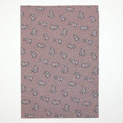 Ткань на клеевой основе 21*14,5 см зайки