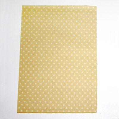 Ткань на клеевой основе 21*14,5 см горошек №1009
