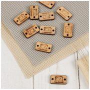 Бирка пришивная Hand made (швейная машинка) 2х1,2 см