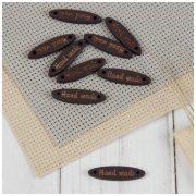 Бирка пришивная Hand made 2,5х0,8 см