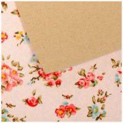 Ткань на клеевой основе 21*29,5 см «Праздник цветов»