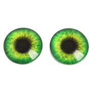 Глаза сфера, зелёные 1 см