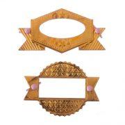 Декоративный элемент рамочка + брадс 2 шт