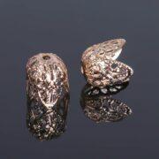Шапочка для бусин СМ-051, золото 11х12 мм